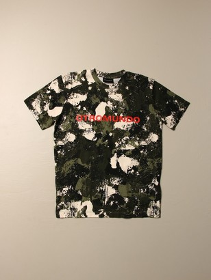 Marcelo Burlon County of Milan T-shirt With Camouflage Print
