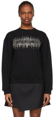 Givenchy Black Rhinestone Logo Sweatshirt