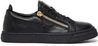 Giuseppe Zanotti Brody Zip-detailed Leather Sneakers