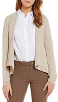 Calvin Klein Shawl Collar Open Front Knit Cardigan