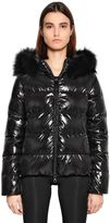 Duvetica Adhara Shiny Nylon Down Jacket W/ Fur
