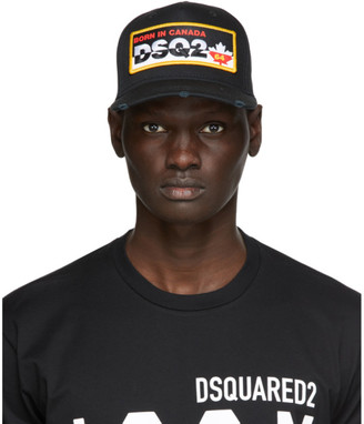DSQUARED2 Black Logo Patch Baseball Cap