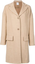 Agnona flap pocket coat - women - Silk/Cupro/Camel Hair - S