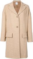 Agnona flap pocket coat - women - Silk/Cupro/Camel Hair - XS