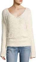 Elizabeth and James Wyatt Open V-Neck Pullover Sweater, Ivory
