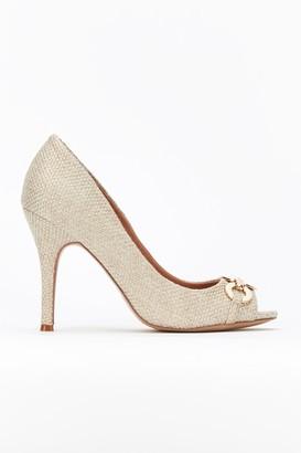 Wallis Nude Gold Ring Peeptoe Court Shoe