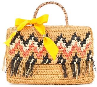 "Sensi ""La Cartera"" Zigzag pattern handbag"