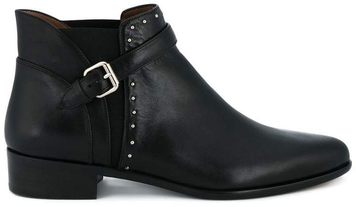 Tabitha Simmons Black Gigi Leather ankle boots