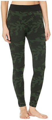 Hue Brushed Seamless Leggings (Olive Camo) Women's Casual Pants