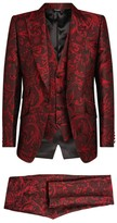 Dolce & Gabbana Three-Piece Jacquard Suit