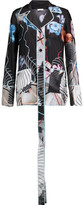 Vionnet Printed Silk-Satin Top