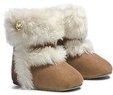 Michael Kors Girls Grace Faux Fur Suede Boot Infant