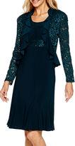 R & M Richards R&M Richards Long-Sleeve Lace Jacket Dress