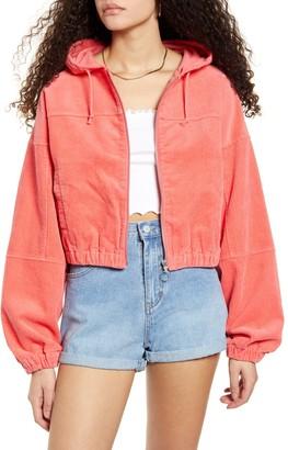 UNIONBAY Adelia Hooded Cotton Corduroy Jacket