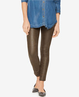 7 For All Mankind Maternity Faux-Leather Skinny Jeans