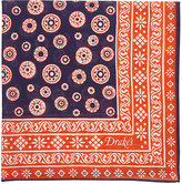 Drakes Drake's Men's Bandana-Print Pocket Square-NAVY