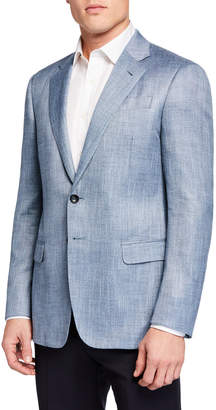 Giorgio Armani Men's Melange Pattern Sport Jacket