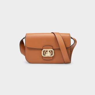 Lanvin Swan Box Medium Clasp Shoulder Bag In Wood Leather