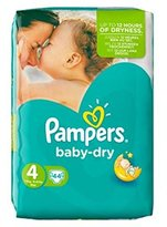 Pampers Baby Dry Size 4 Essential Pack 44 Nappies - Pack of 2