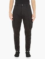 Stone Island Shadow Project Black Gabardine Cargo Trousers
