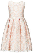 Jayne Copeland Big Girls 7-12 Embroidered Lace Overlay Fit-And-Flare Dress