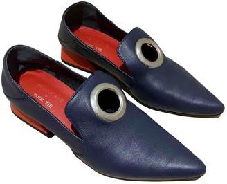 REJINA PYO Blue Leather Heels