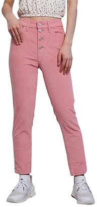 Levi's(r) Womens 721 High-Rise Button Front Skinny (Blush Luxe Cord) Women's Casual Pants