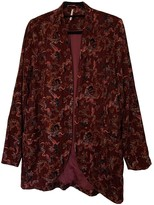 Free People Burgundy Velvet Jackets