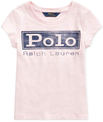 Polo Ralph Lauren Little Girls Cotton Jersey Logo T-Shirt