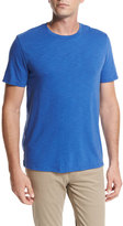 Vince Slub Cotton Crewneck T-Shirt, Bright Blue