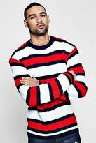 boohoo Mens Marl Stripe Knitted Jumper