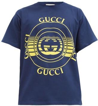 Gucci GG-disc Organic Cotton-jersey T-shirt - Blue