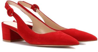 Gianvito Rossi Amee suede slingback pumps