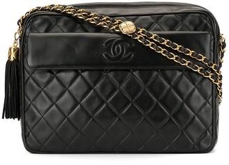 Chanel Pre Owned Quilted Fringe Chain Shoulder Bag