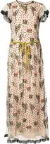 RED Valentino floral embroidery long dress - women - Polyester - 40