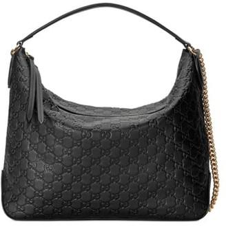 Gucci Medium Padlock Leather Hobo