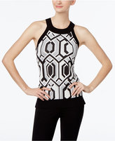 INC International Concepts Petite Metallic Halter Sweater, Only at Macy's