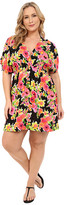 Lauren Ralph Lauren Plus Size Brilliant Floral Farrah Dress Cover-Up