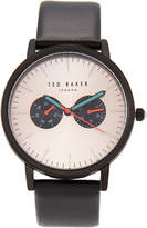 Ted Baker TE50291008 Black & Rose Gold-Tone Watch