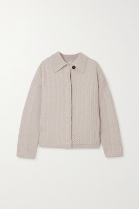 Le Kasha Bilbao Cable-knit Cashmere Cardigan - Beige