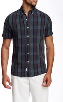Kennington Plaid Print Woven Short Sleeve Shirt