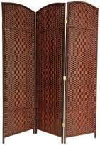 Oriental Furniture Big Large Wide Best Price Room Divide, 6-Feet Tall Diamond Weave Natural Fiber Folding Screen