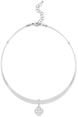 Alor 18K White Gold, Stainless Steel Diamond Necklace