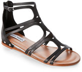 Steve Madden Black Delta Demi-Wedge Gladiator Sandals