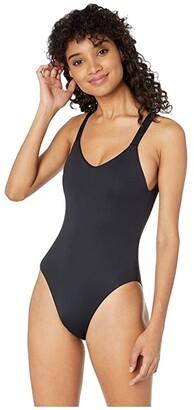 Vitamin A Swimwear Leah Bodysuit Full (Black EcoLux) Women's Swimsuits One Piece