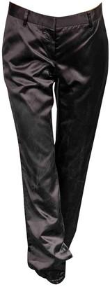 Prada Black Silk Trousers