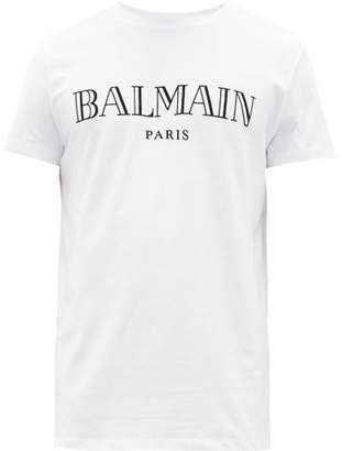 Balmain Logo-print Cotton T-shirt - Mens - White