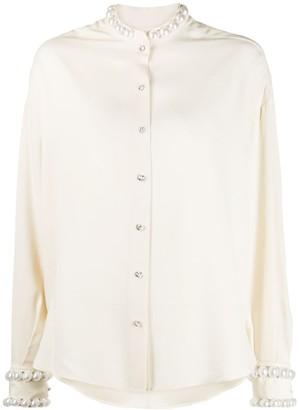 Amen Faux Pearl-Embellished Blouse