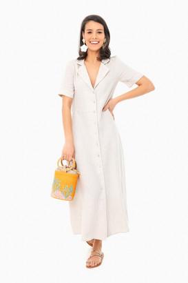 Khaki Linen Meriweather Dress