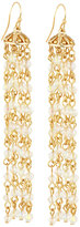 Fragments for Neiman Marcus Long Multi-Strand Crystal Chandelier Earrings, Gold/Clear